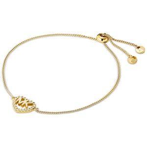 Michael Kors 14K Gold Pavé Logo Heart Bracelet